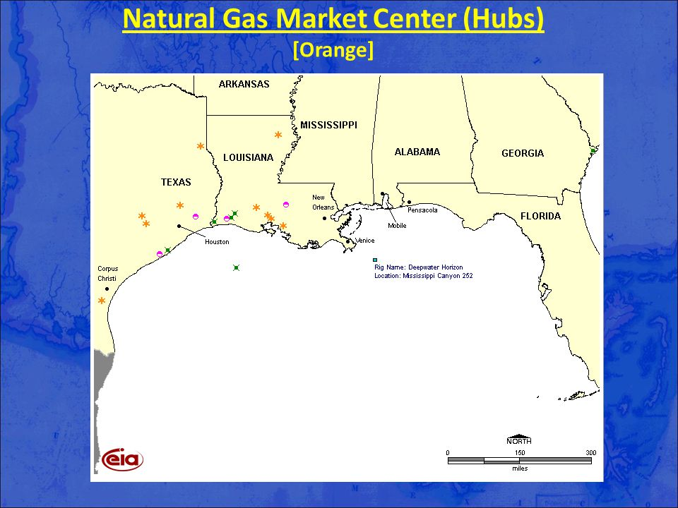 Natural Gas Market Center (Hubs) [Orange]