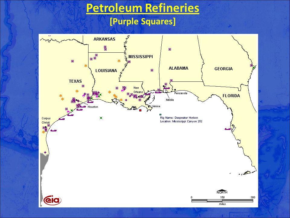 Petroleum Refineries [Purple Squares]