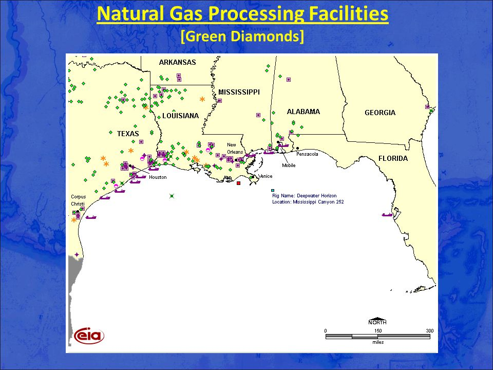 Natural Gas Processing Facilities [Green Diamonds]