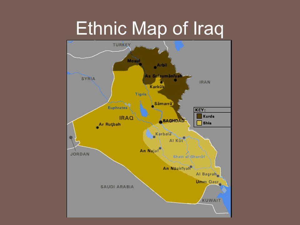 Ethnic Map of Iraq