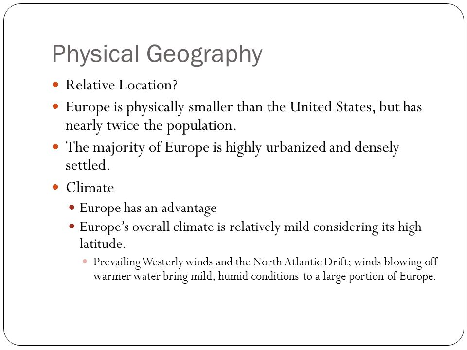 Physical Geography Relative Location.