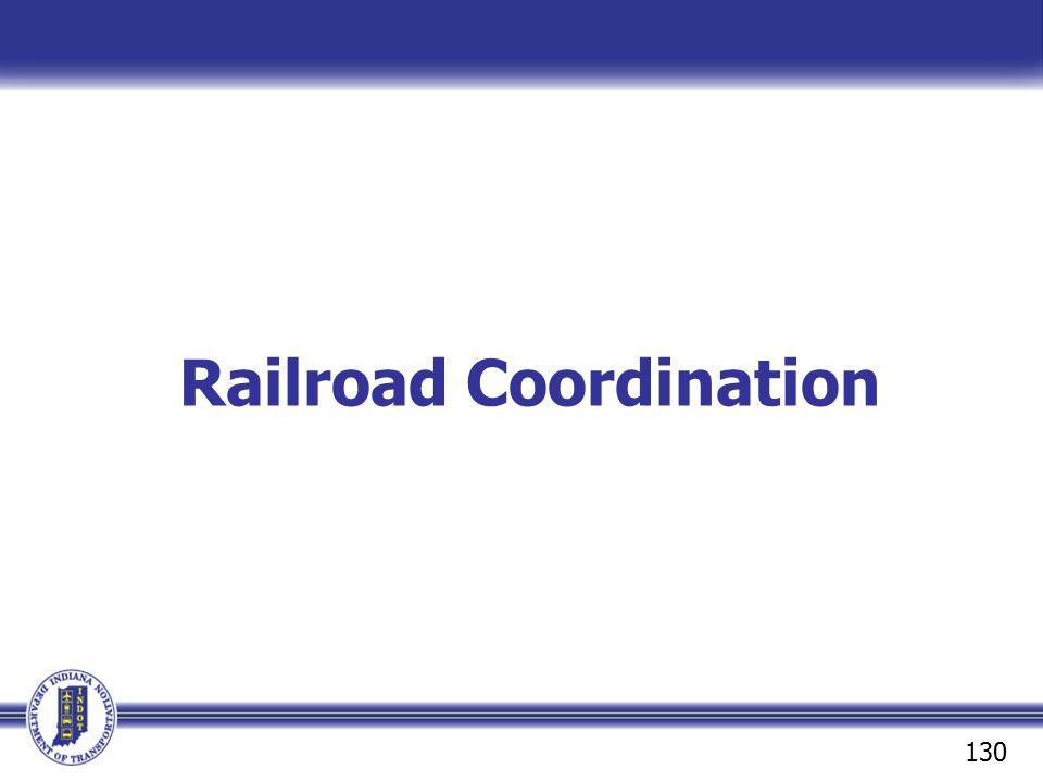 Railroad Coordination 130