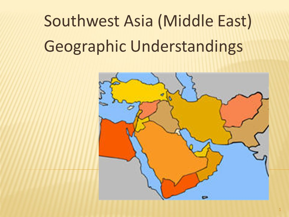 Southwest Asia (Middle East) Geographic Understandings 1