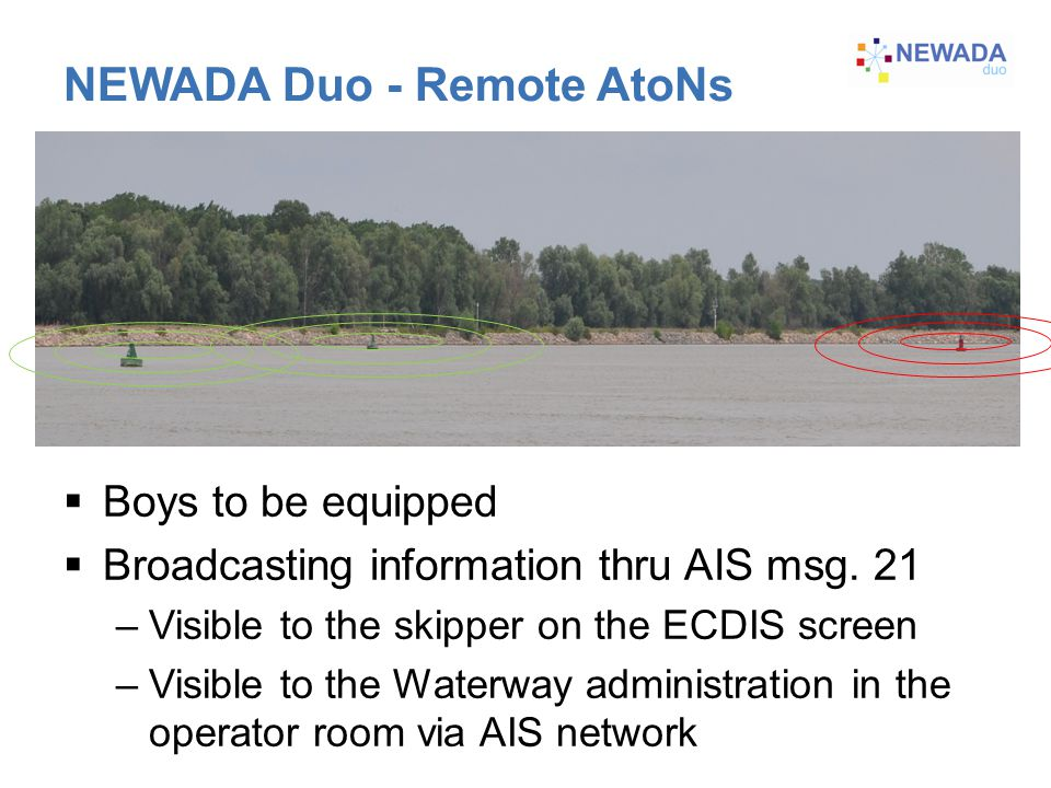 NEWADA Duo - Remote AtoNs  Boys to be equipped  Broadcasting information thru AIS msg.