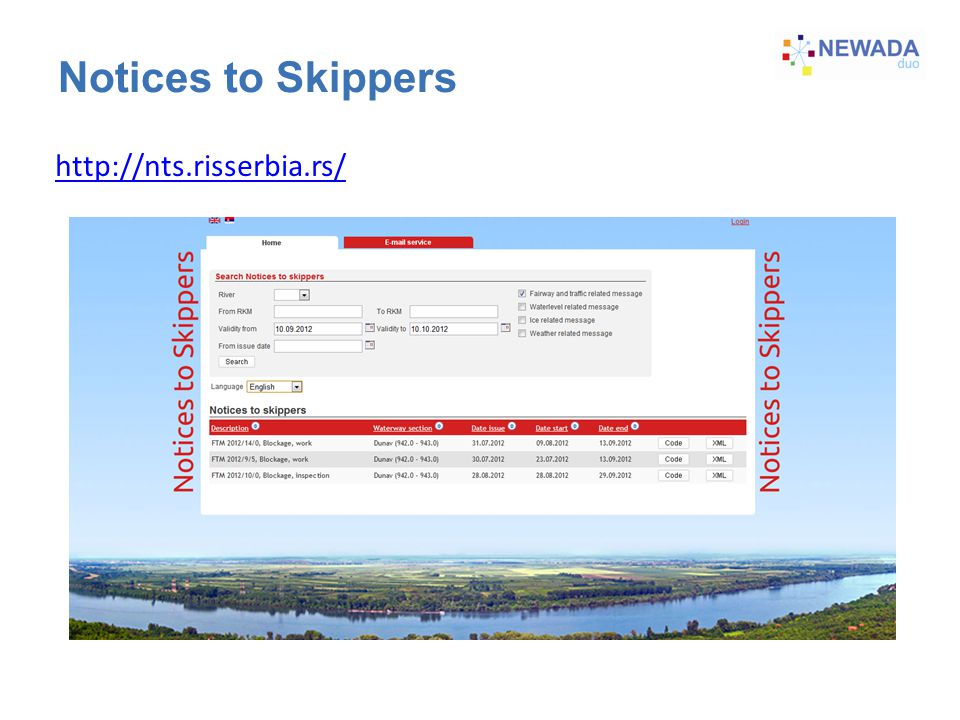 Notices to Skippers http://nts.risserbia.rs/