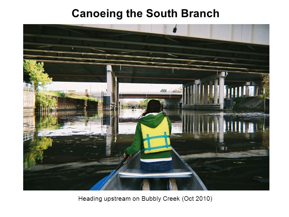 Heading upstream on Bubbly Creek (Oct 2010) Canoeing the South Branch