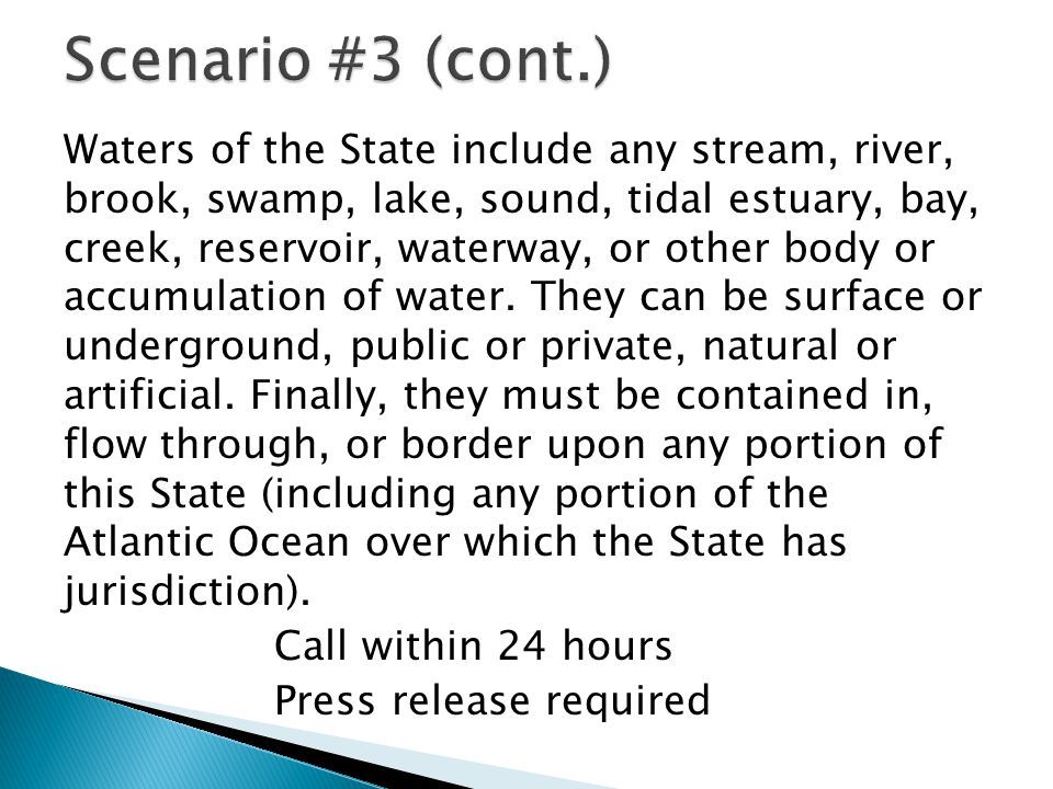 Waters of the State include any stream, river, brook, swamp, lake, sound, tidal estuary, bay, creek, reservoir, waterway, or other body or accumulation of water.