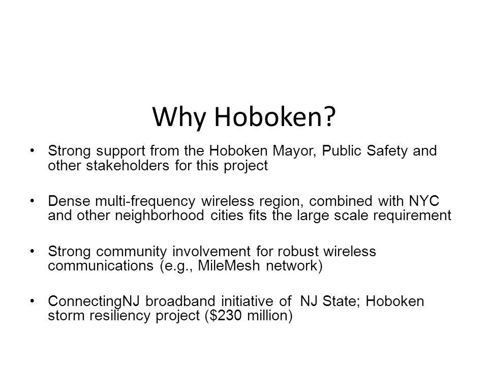 Why Hoboken.