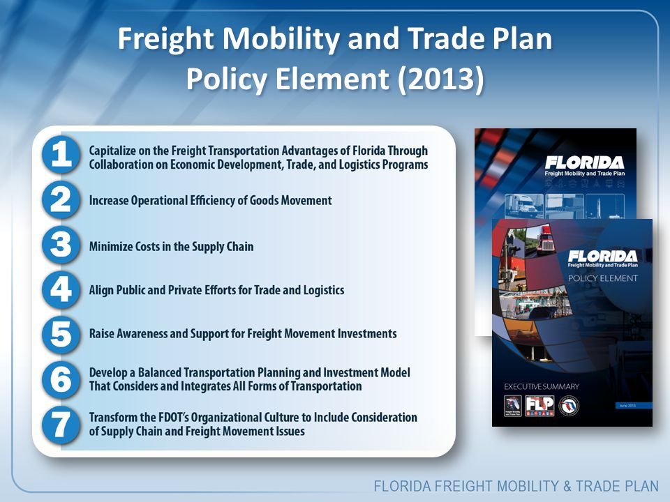 Freight Mobility and Trade Plan Policy Element (2013)