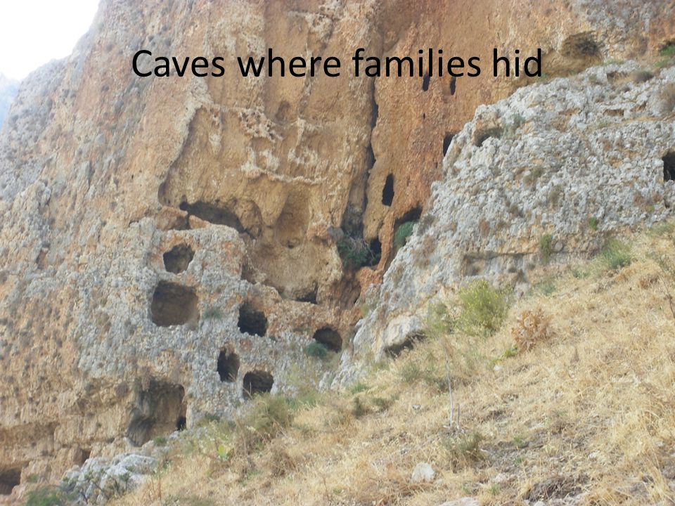 Caves where families hid