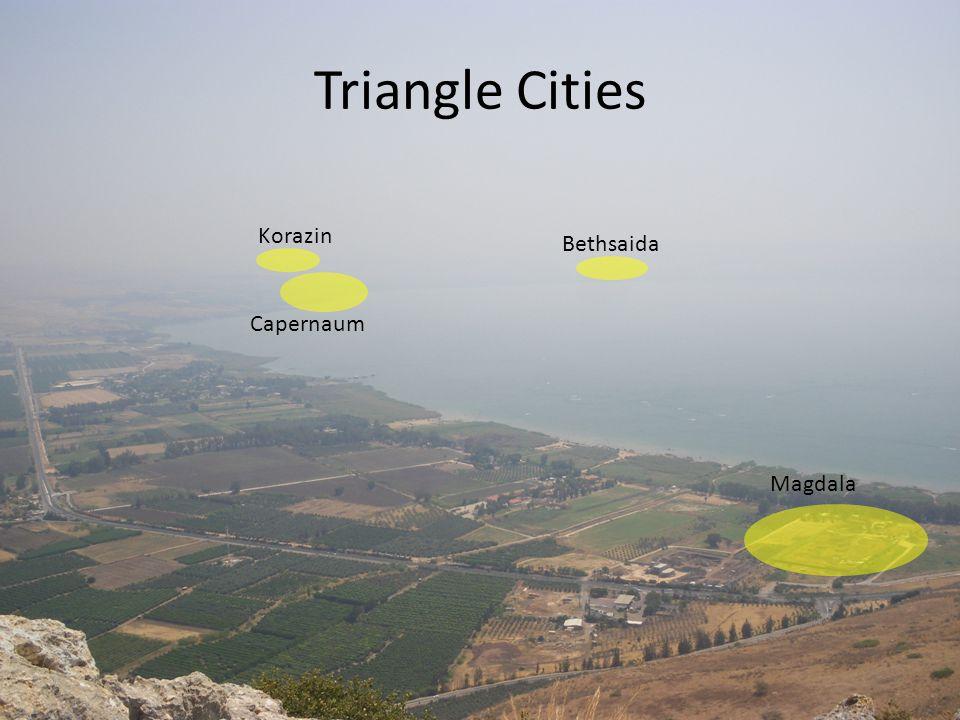 Triangle Cities Capernaum Korazin Bethsaida Magdala