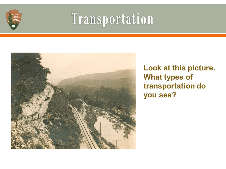 Look at this picture. What types of transportation do you see