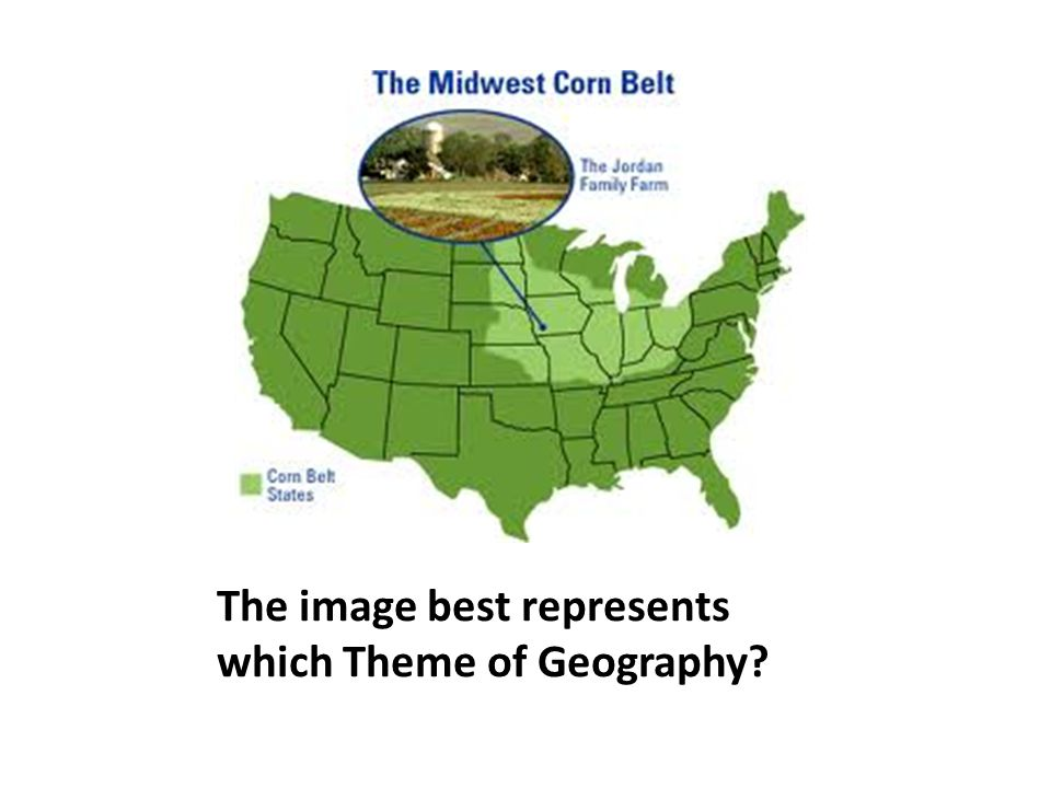 The image best represents which Theme of Geography?