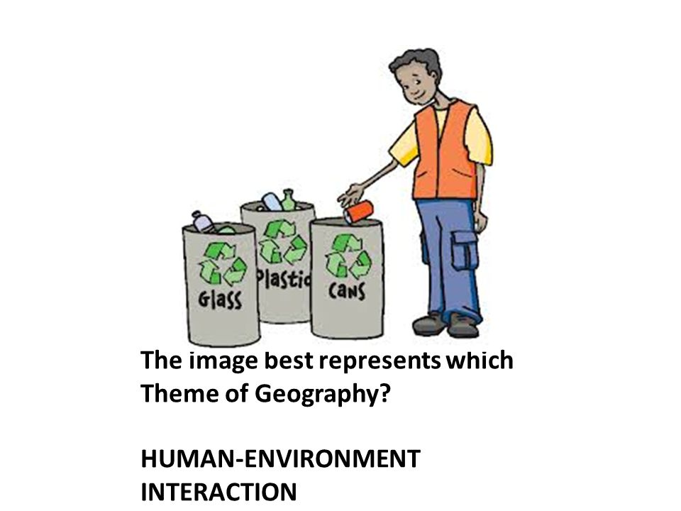 The image best represents which Theme of Geography? HUMAN-ENVIRONMENT INTERACTION