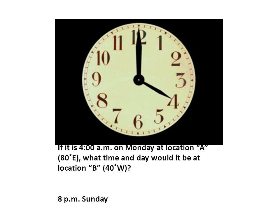If it is 4:00 a.m.