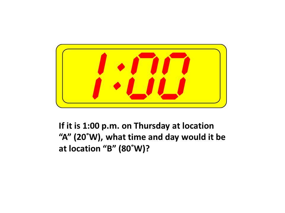 If it is 1:00 p.m.