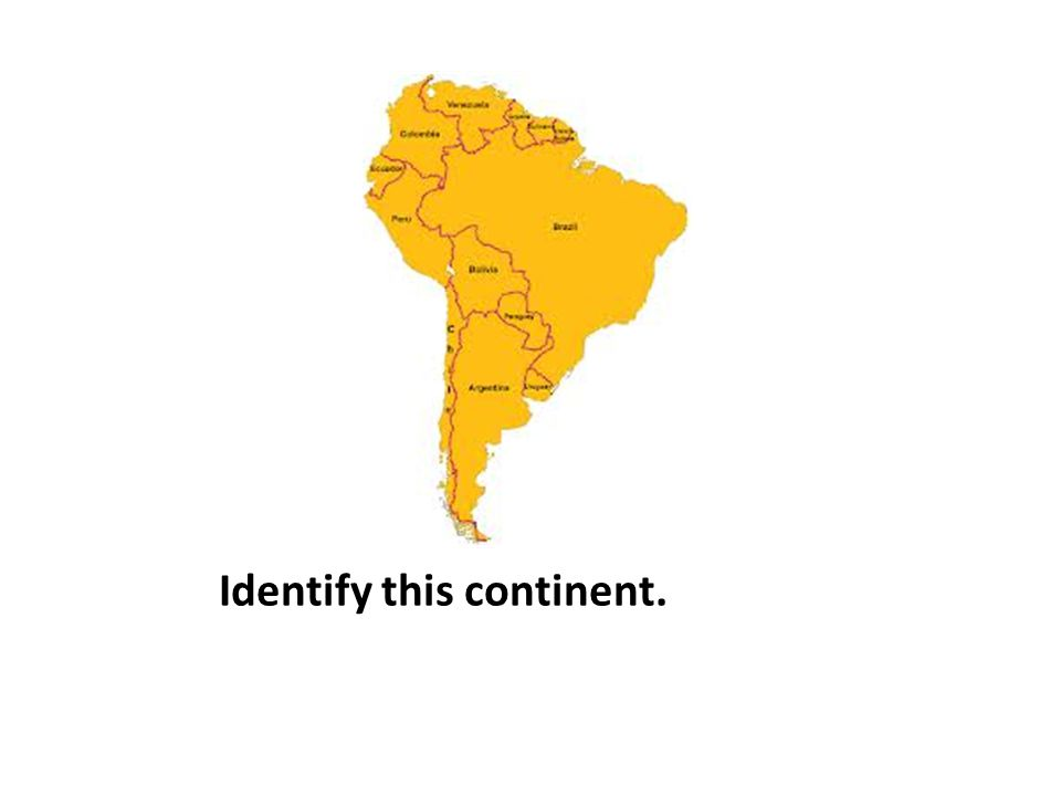 Identify this continent.