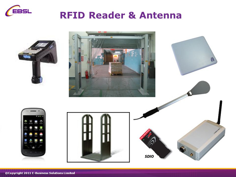 ©Copyright 2011 E-Business Solutions Limited RFID Reader & Antenna
