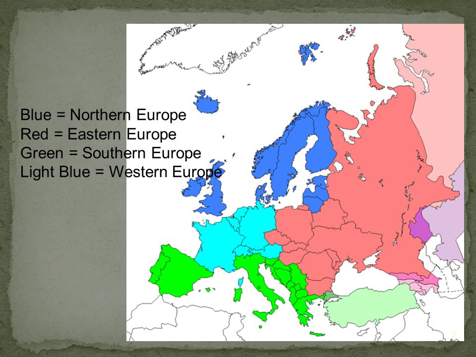 3) The Northern European Plain is a flat area that extends from France through the Netherlands, Germany, Poland, and into Russia.