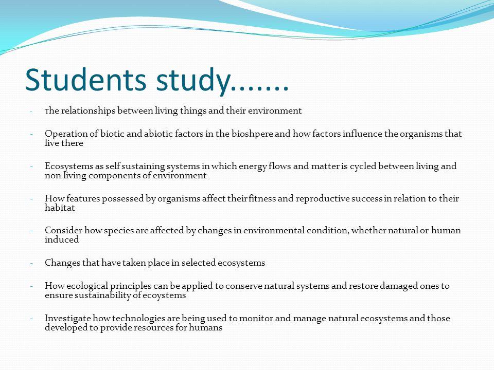 Students study.......