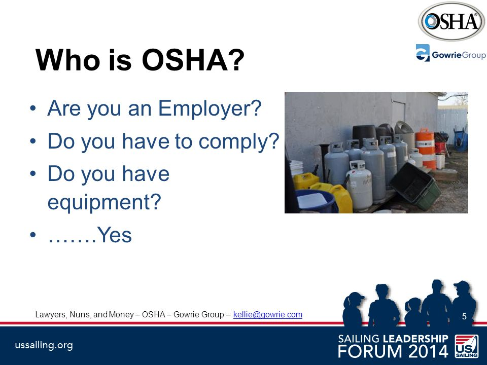 Who is OSHA. Are you an Employer. Do you have to comply.