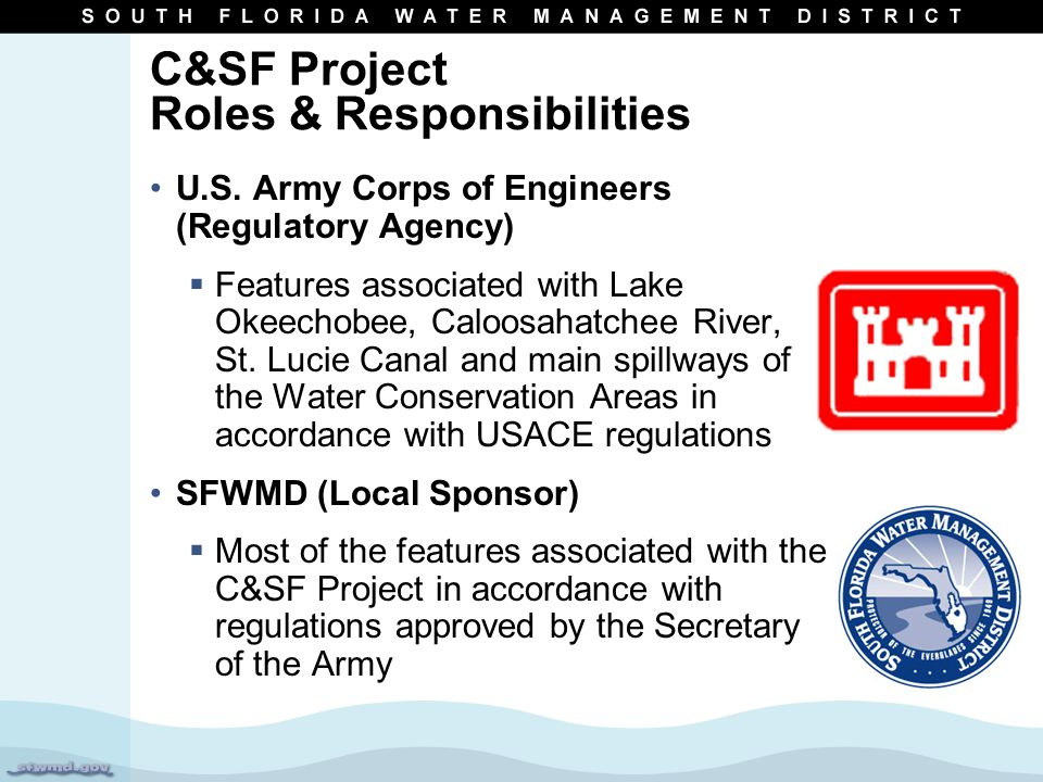 C&SF Project Roles & Responsibilities U.S.