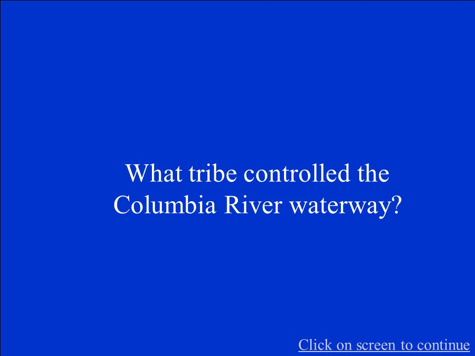 The Final Jeopardy Category is: Waterways Please record your wager. Click on screen to begin