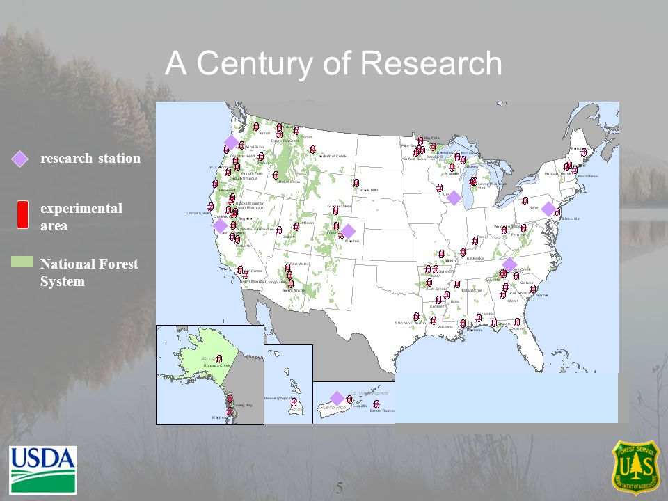 A Century of Research experimental area National Forest System research station 5