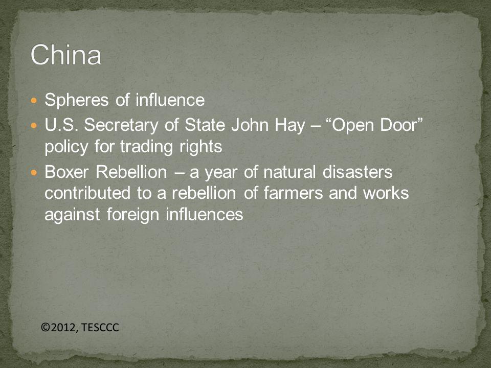 Spheres of influence U.S.