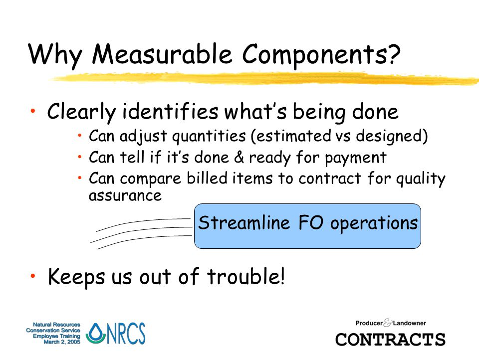 Why Measurable Components.