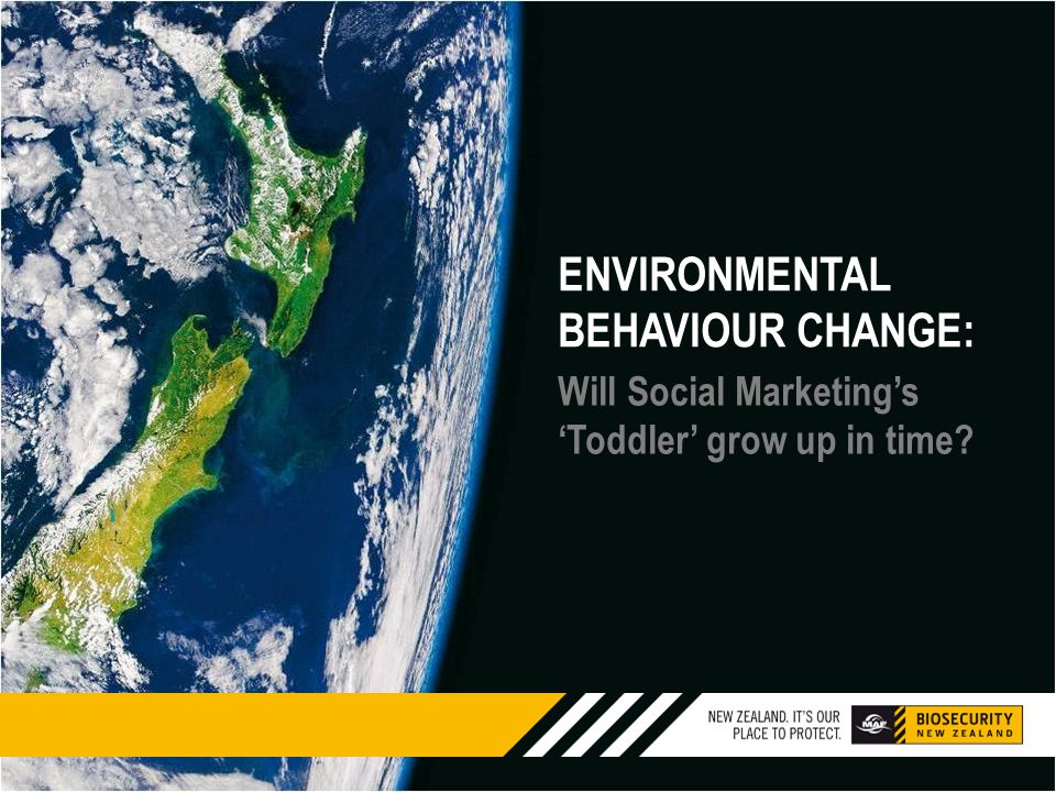 ENVIRONMENTAL BEHAVIOUR CHANGE: Will Social Marketing's 'Toddler' grow up in time