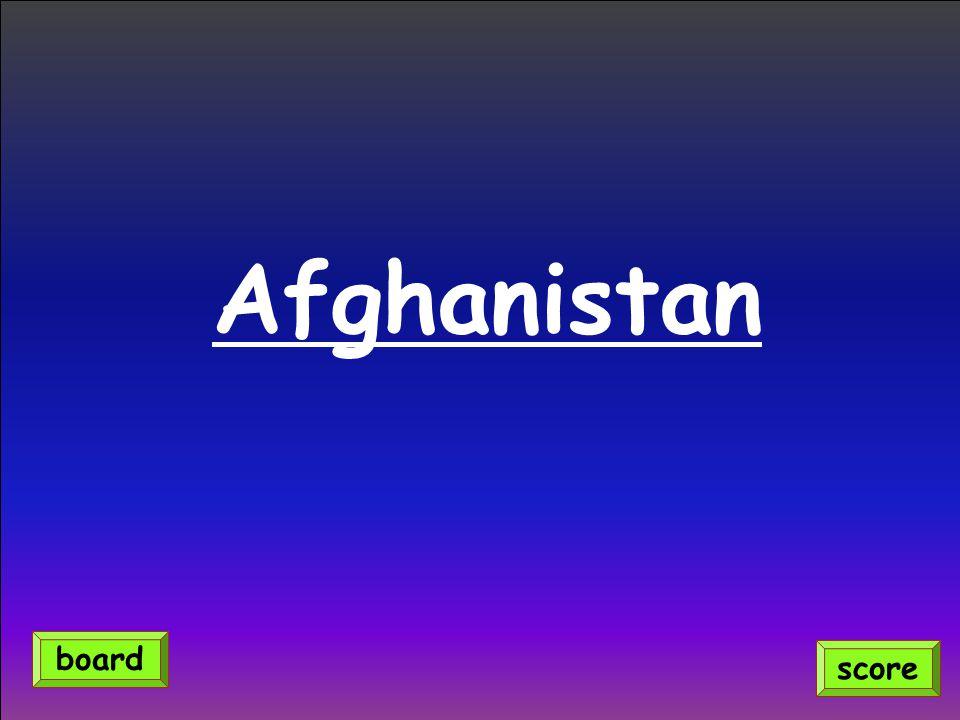 Afghanistan score board