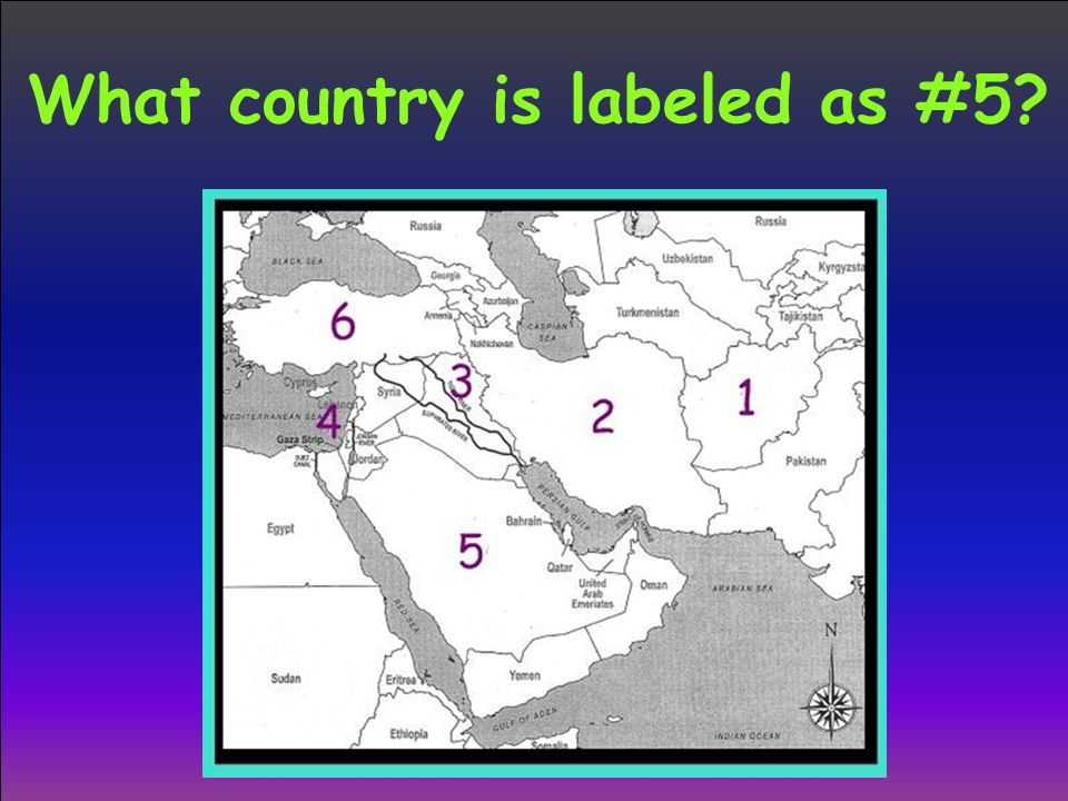What country is labeled as #5