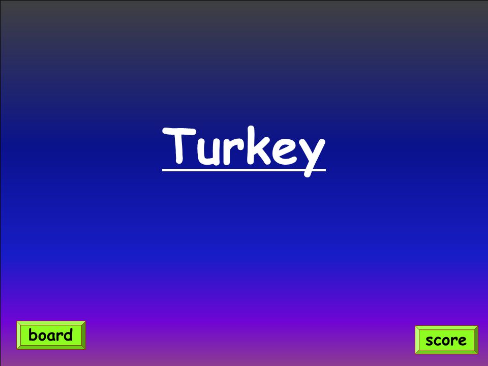 Turkey score board