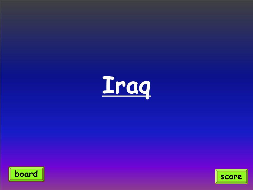 Iraq score board