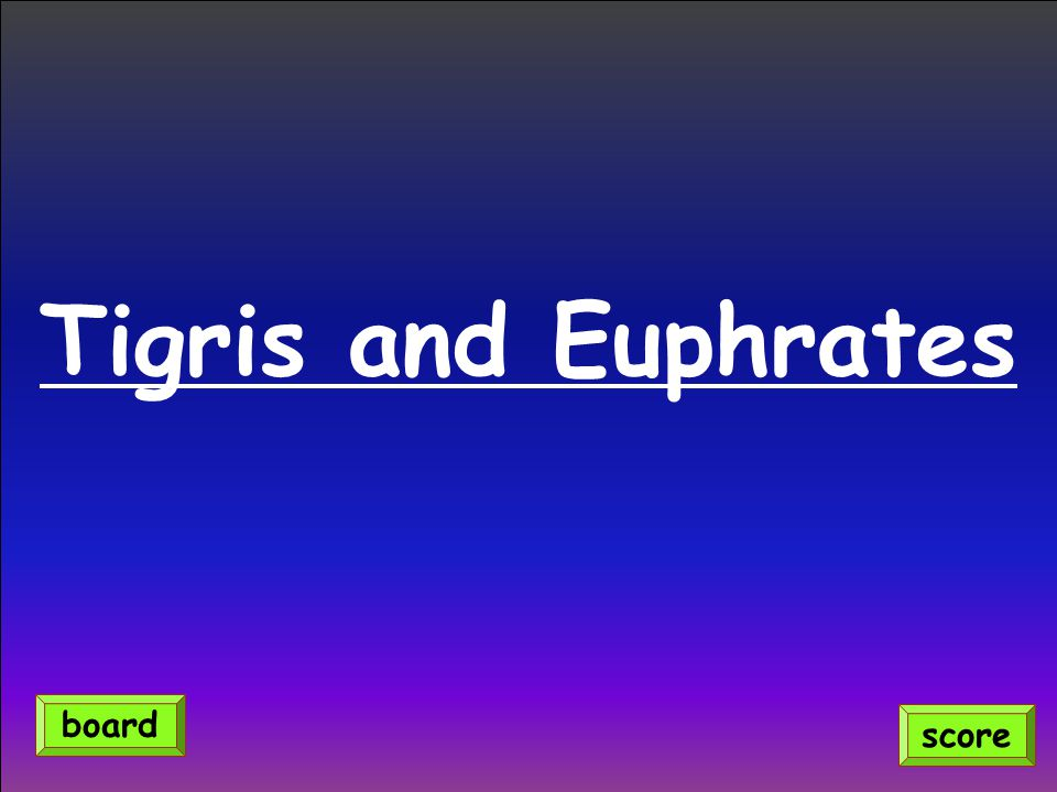 Tigris and Euphrates score board