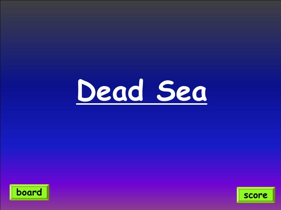Dead Sea score board