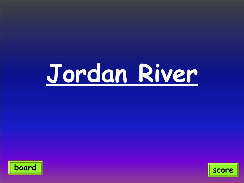 Jordan River score board