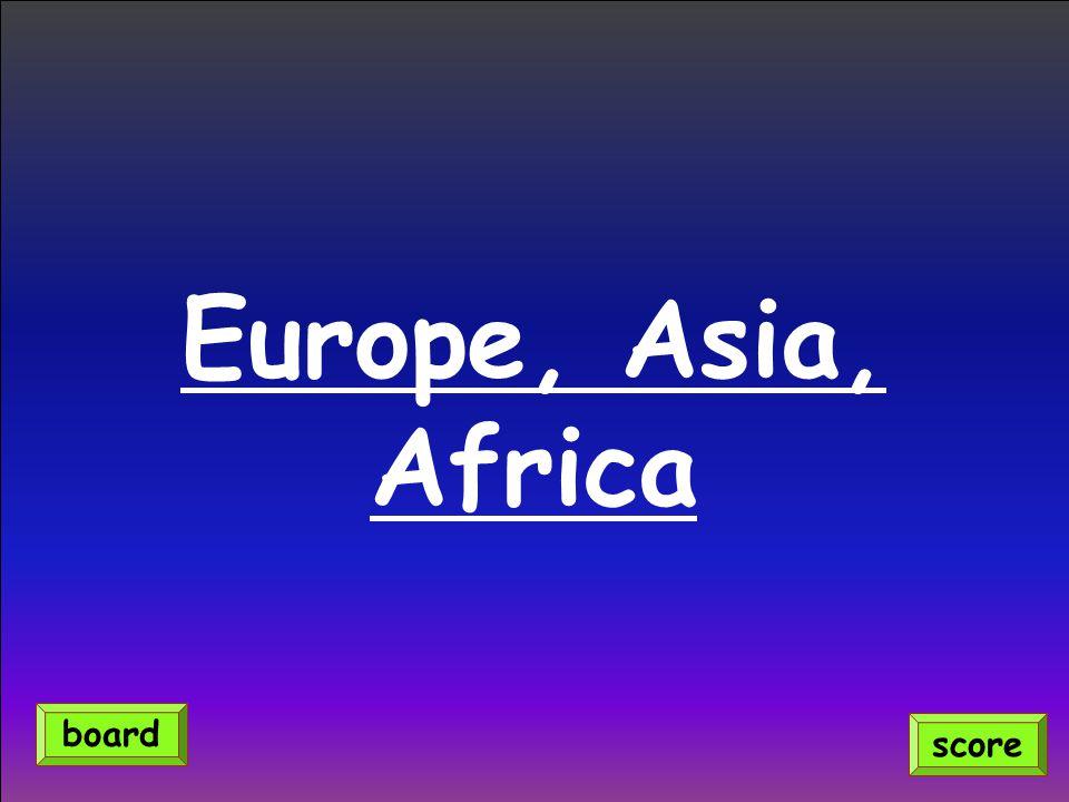 Europe, Asia, Africa score board