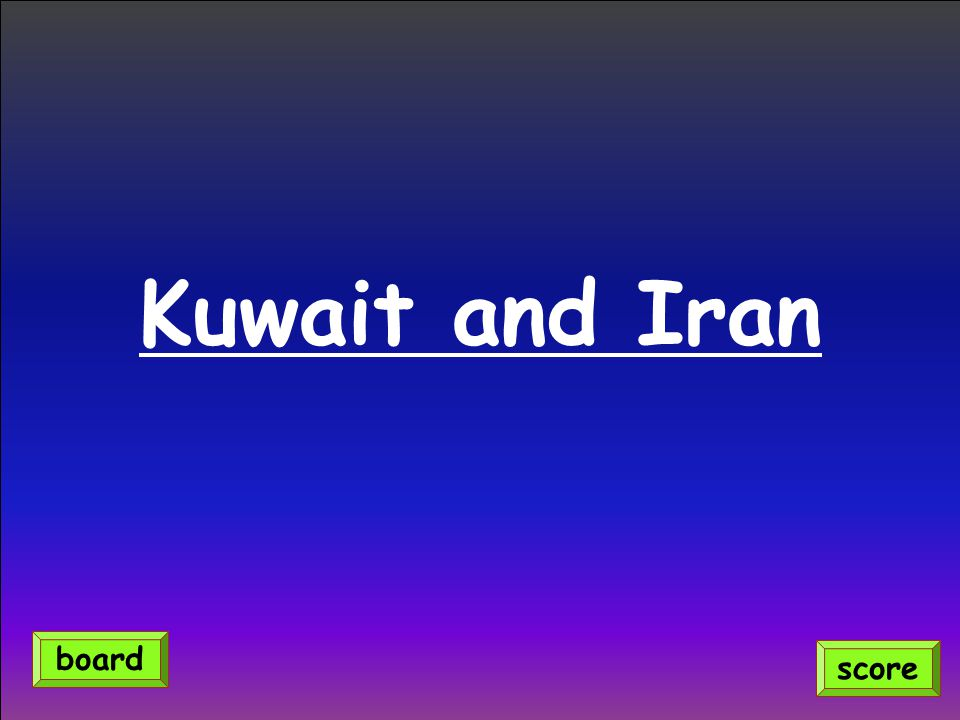 Kuwait and Iran score board