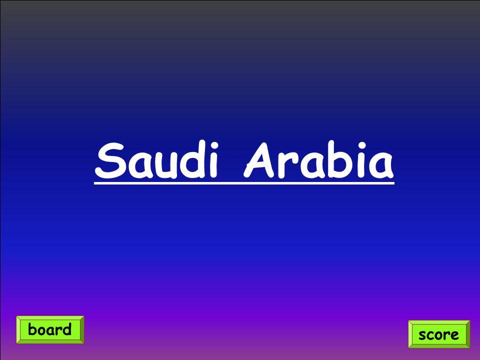 Saudi Arabia score board