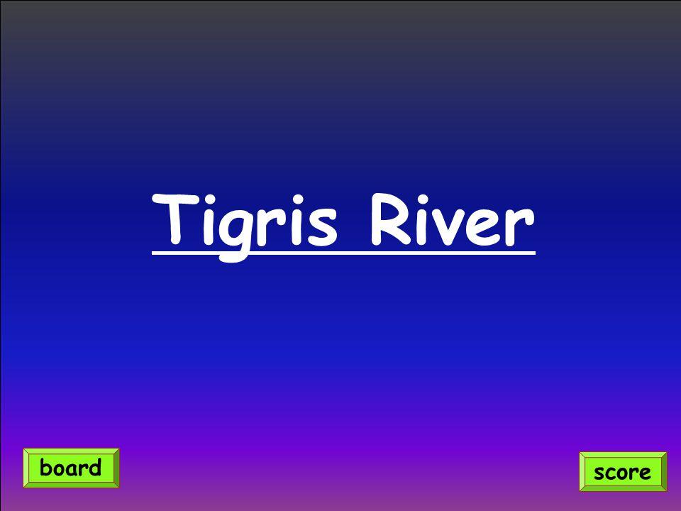 Tigris River score board