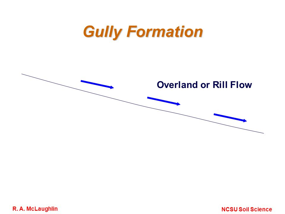 Gully Formation Overland or Rill Flow NCSU Soil Science R. A. McLaughlin
