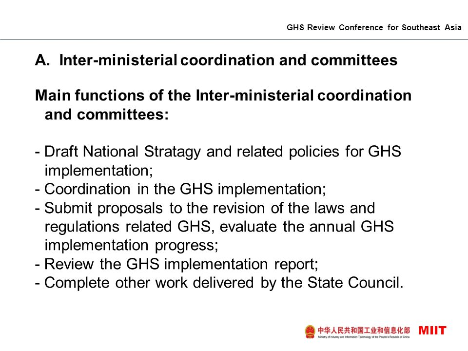 GHS Review Conference for Southeast Asia MIIT A.