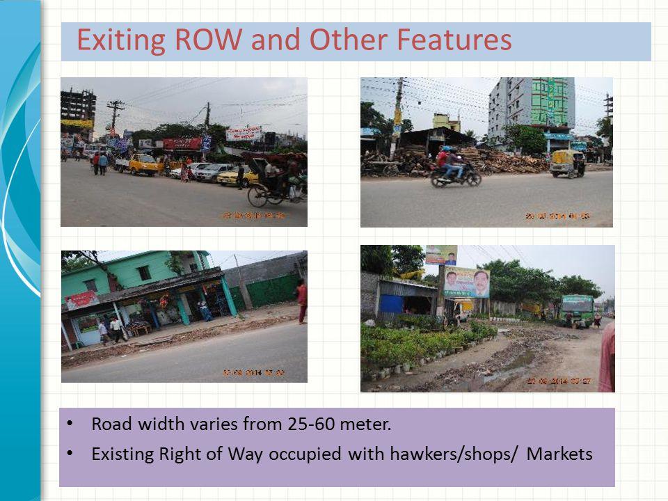 Road width varies from 25-60 meter.