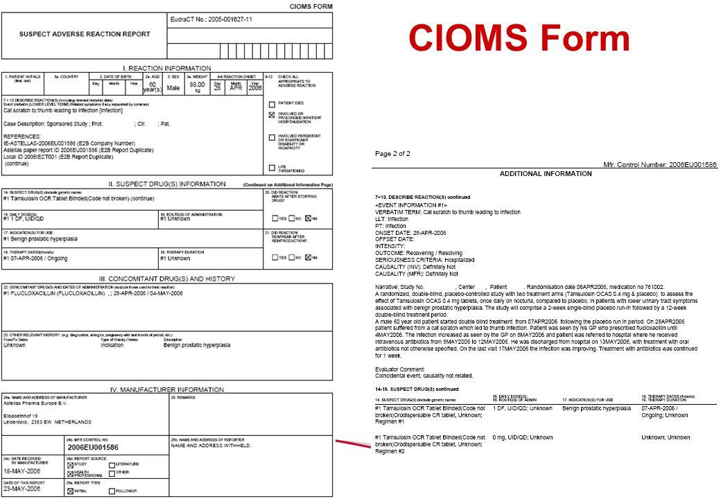 14 CIOMS Form