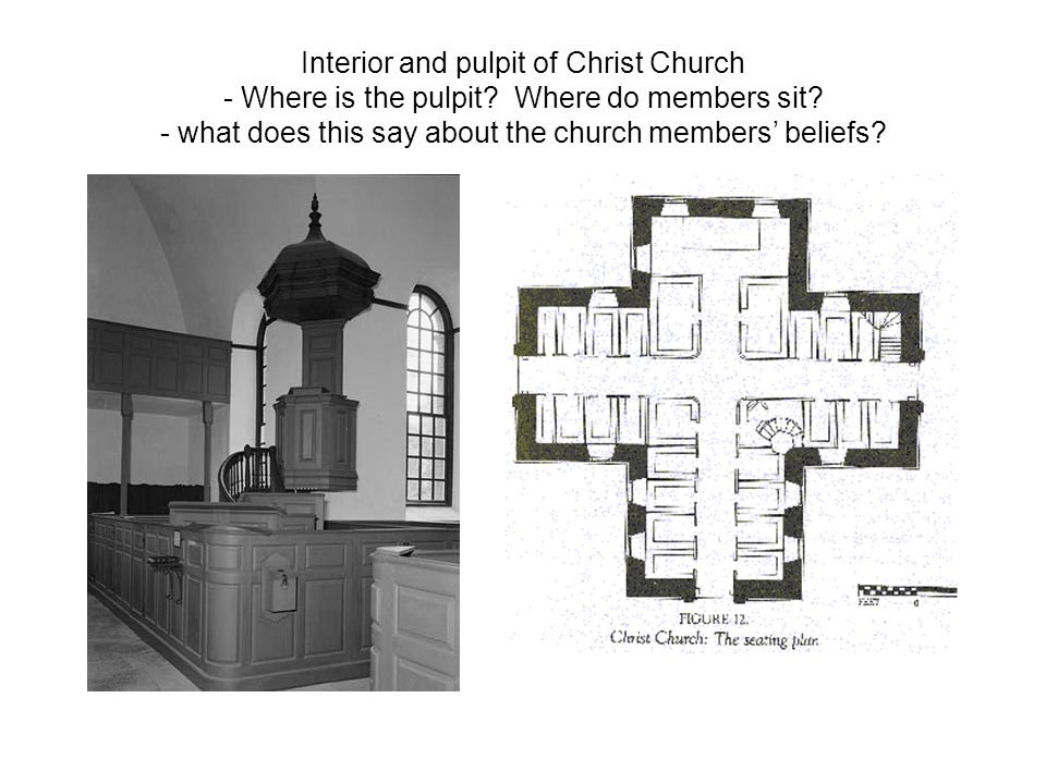 Interior and pulpit of Christ Church - Where is the pulpit.