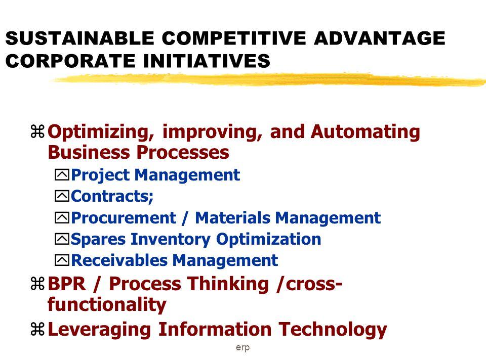 erp Enterprise planning : core process : Where does it fit.