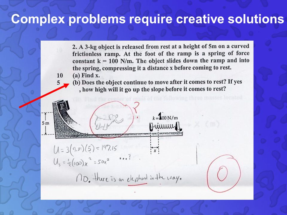 Complex problems require creative solutions