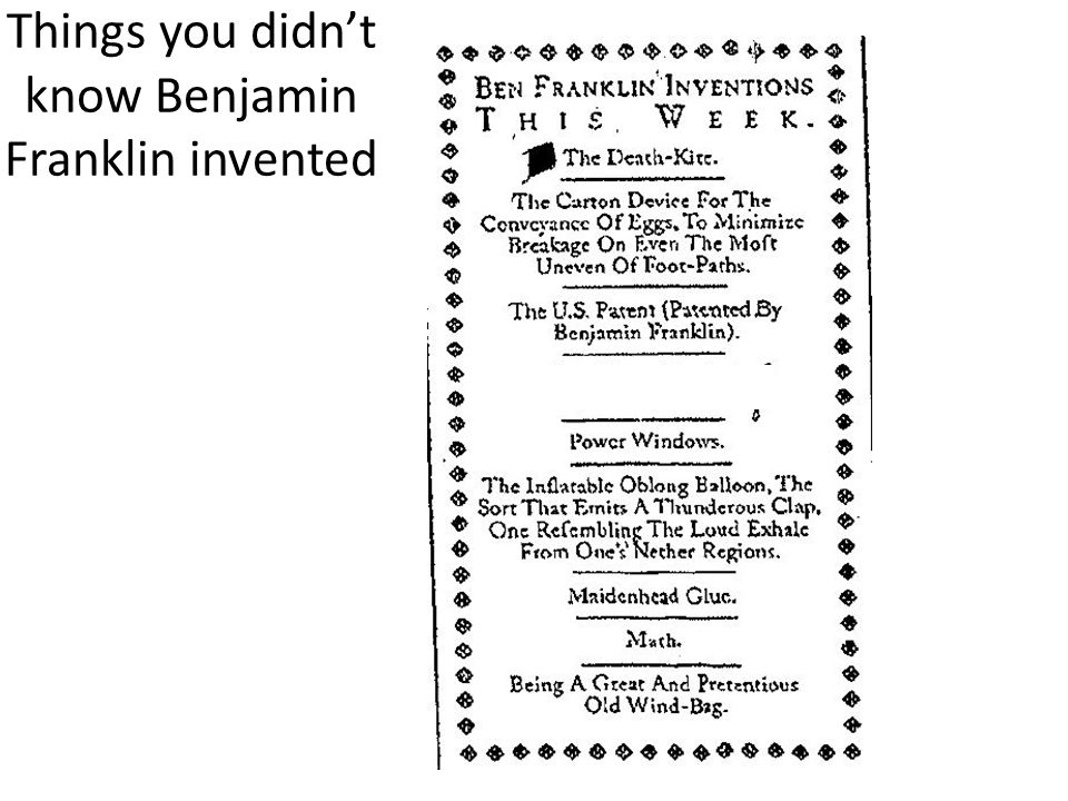 Things you didn't know Benjamin Franklin invented